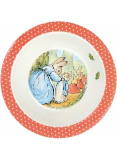 Bowl Peter Rabbit borde naranja lunares