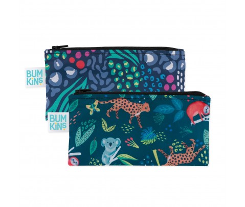 Set 2 bolsas mini snack Bumkins Jungle 18*9 cm