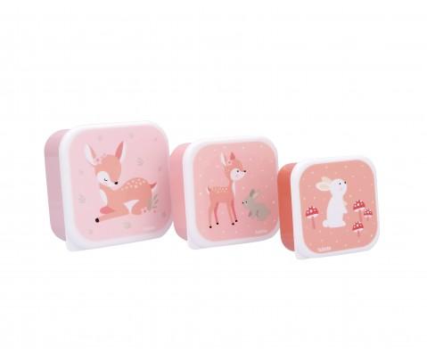 Set 3 cajas almuerzo Sweet Deer