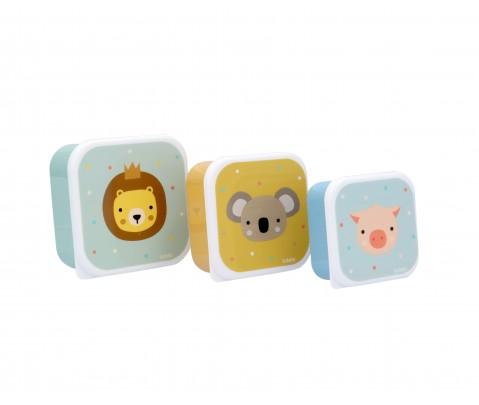 Set 3 cajas almuerzo Animal Friends