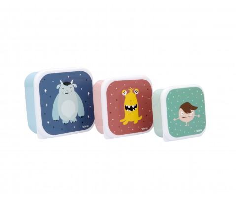 Set 3 cajas almuerzo Little Monsters