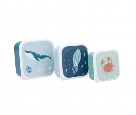 Set 3 cajas almuerzo Ocean