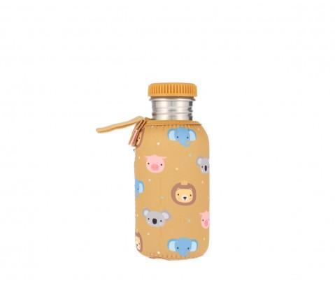 Botella acero con funda Animal Friends 500 ml