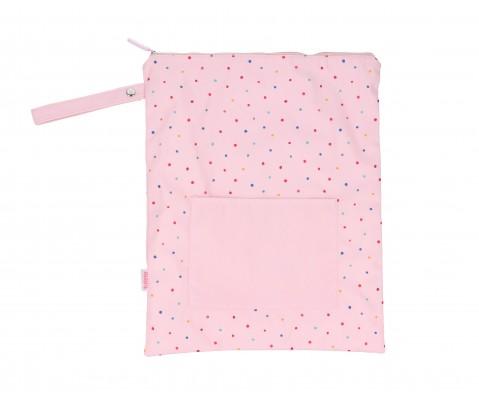 Bolsa impermeable grande Pink Dots