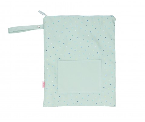 Bolsa impermeable grande Sage Dots