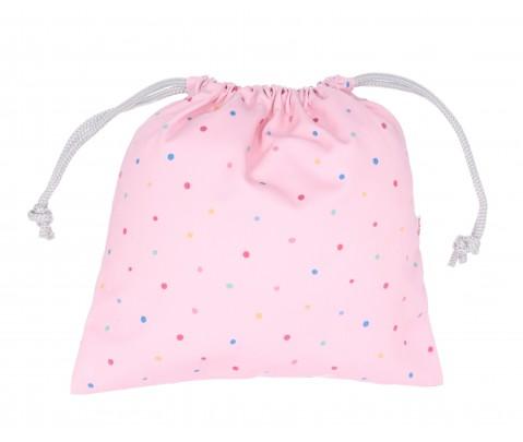 Bolsa merienda tela Pink Dots