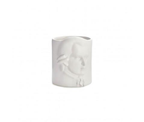 Portalápices Amadeus Mozart blanco cerámica