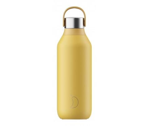 Botella Isotérmica 500 ml Chilly´s Serie 2 Amarillo Polen