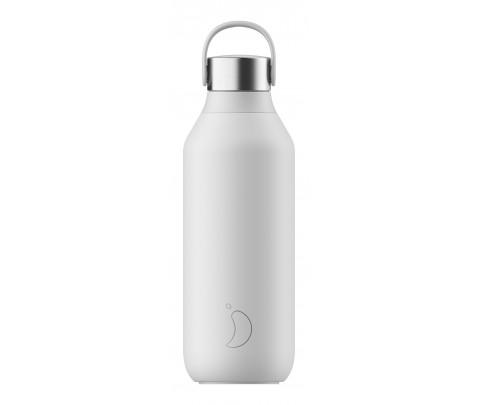 Botella Isotérmica 500 ml Chilly´s Serie 2 Blanco Ártico