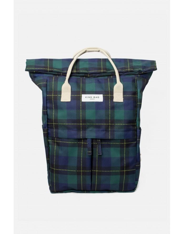 Mochila Kind Bag Verde Escocesa