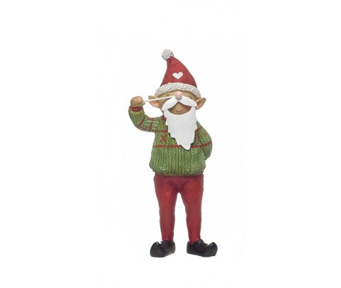 Figura elfo de pie con barba 17 cm