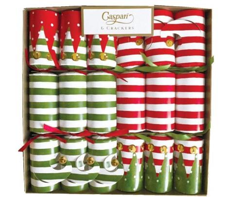 6 Crackers Stocking Stripe Christmas
