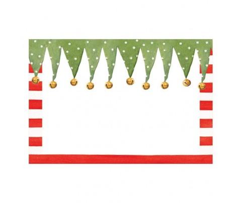10 marcadores de mesa Stocking Stripe