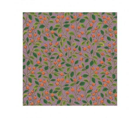 20 servilletas de papel lunch Soft Plum Berries Leaves