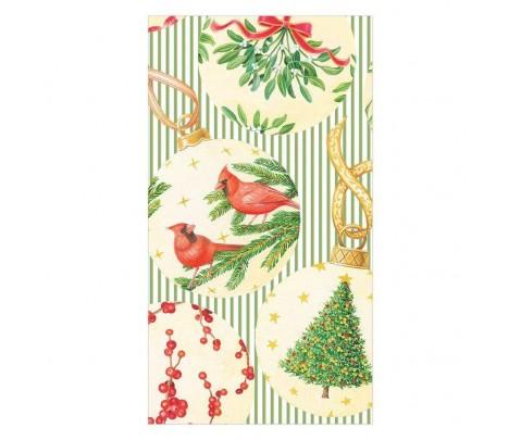 15 servilletas de papel buffet Botanical Ornaments