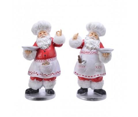 Set 2 figuras Papa Noel Repostero 30 cm