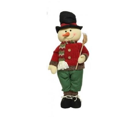 Muñeco de nieve vestido 66 cm