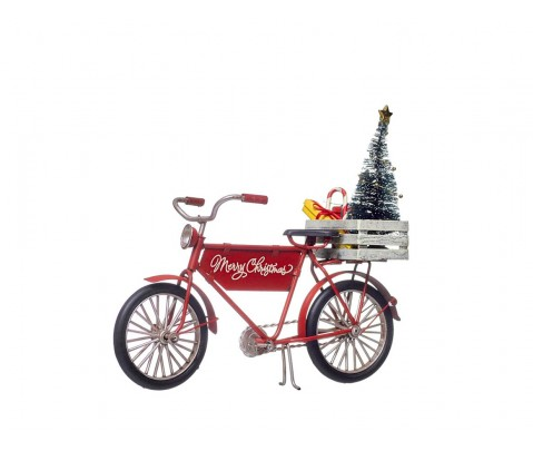Bicicleta metal Mery Christmas 19 cm
