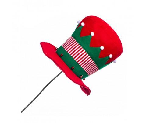 Gorro copa rojo elfo con pincho