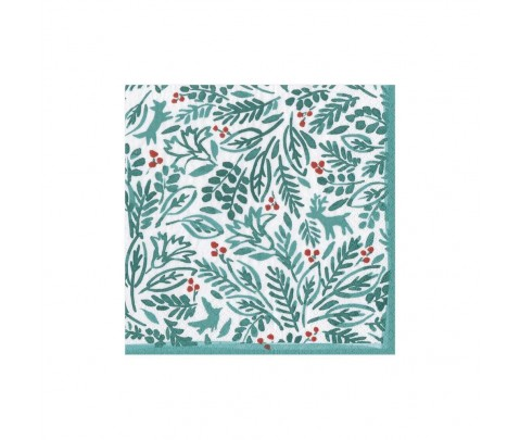 20 servilletas de papel cocktail Winter fauna