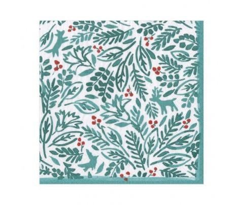 20 servilletas de papel lunch Winter fauna