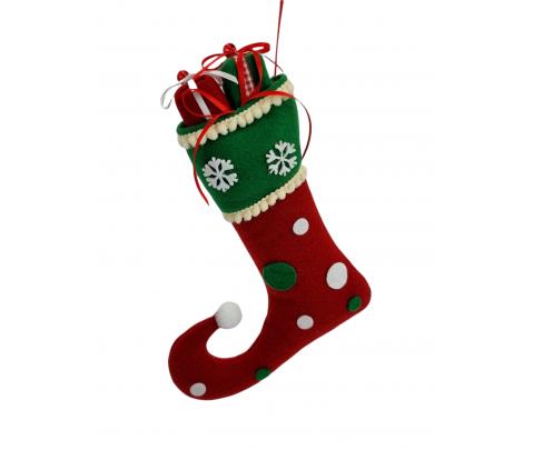 Colgante bota con regalos 24 cm