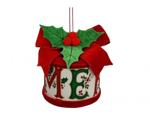 Colgante paquete redondo Merry 9 cm