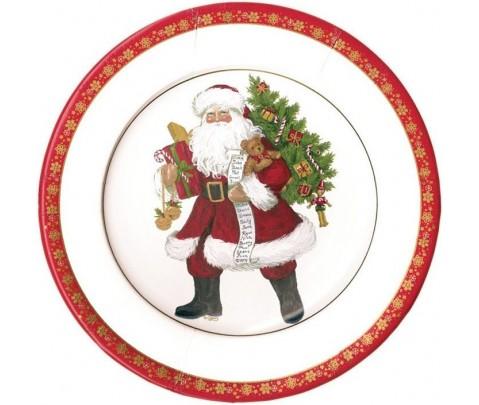 8 platos pequeños Lynn Haney Santa