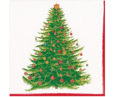 20 servilletas de papel lunch Glittering Tree