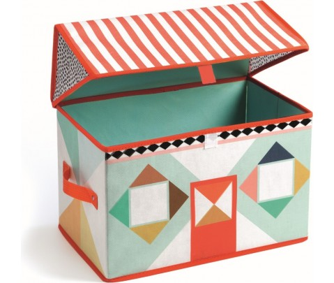 Caja de juguetes casita