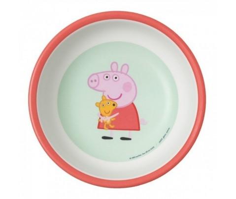 Bowl de Peppa Pig de melamina.
