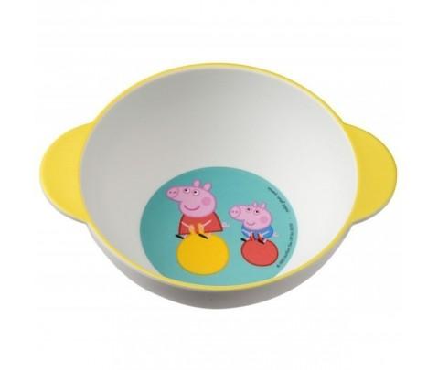 Bowl con asa de Peppa Pig de melamina