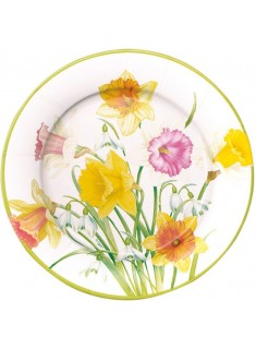 8 platos pequeños de papel Daffodil Waltz