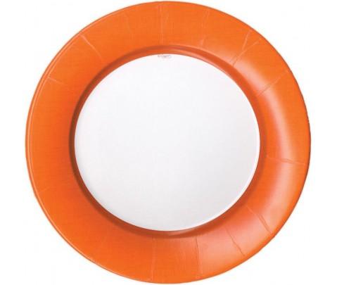 8 platos pequeños Linen Deep Orange