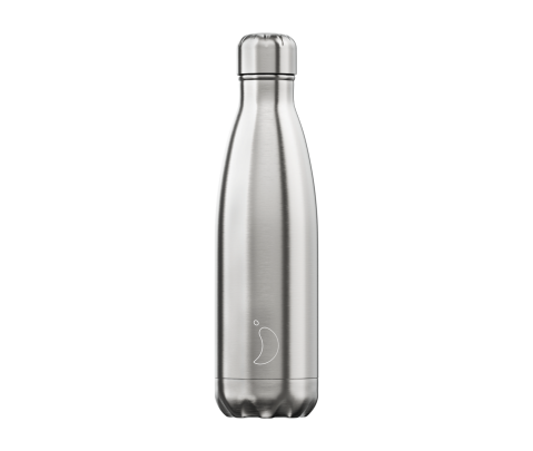 Botella isotérmica inox 500 ml Chilly´s Silver Stainless