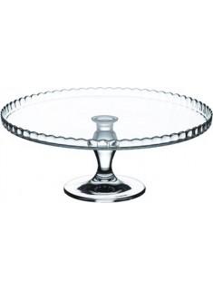 Plato de cristal con pie 32 cm