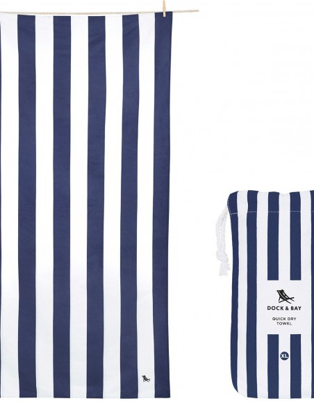 Toalla Dock and Bay Cabana Navy XL (200*90 cm)