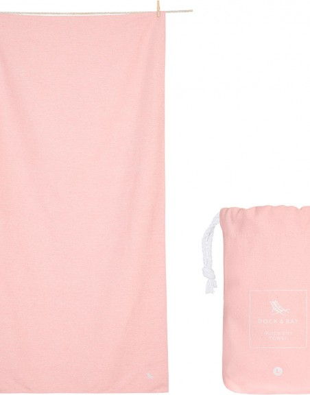 Toalla Dock and Bay Active Rosa Pastel L (160*90 cm)