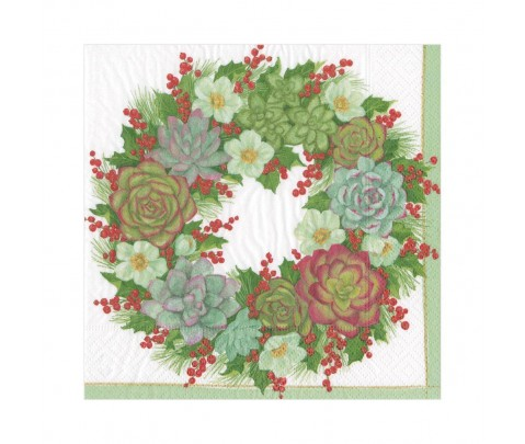 20 servilletas de papel lunch Succulent Wreath