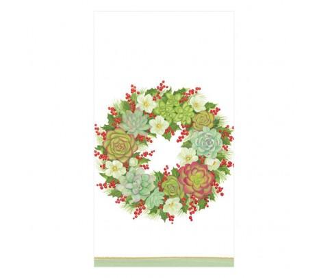 15 servilletas de papel buffet Succulent Wreath