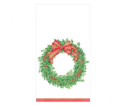 15 servilletas de papel buffet Boxwood and Berries wreath
