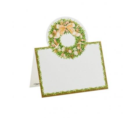 8 marcadores de mesa Shell Wreath
