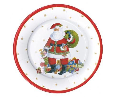 8 platos grandes Santa Claus Lane