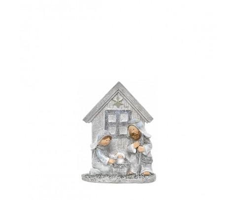 Nacimiento gris ventana casa 10 cm