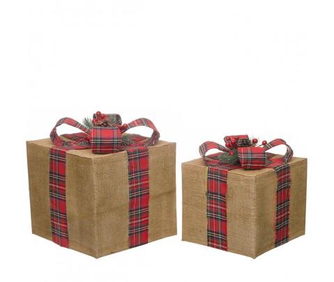 Set 2 paquetes de regalo tela saco