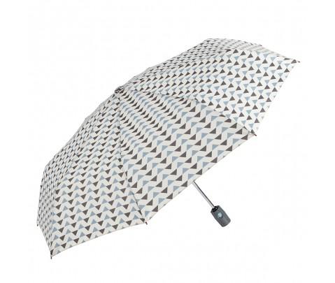Paraguas plegable geométrico Azul