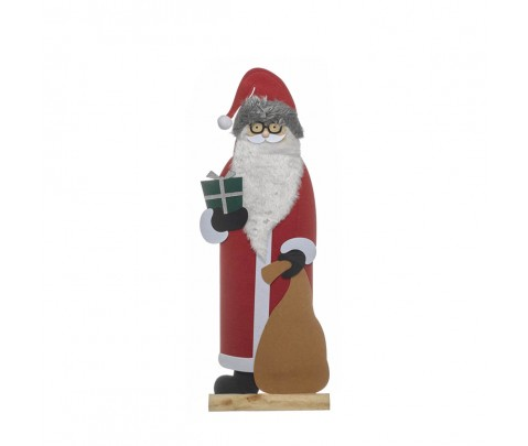 Figura Papa Noel con saco 82 cm