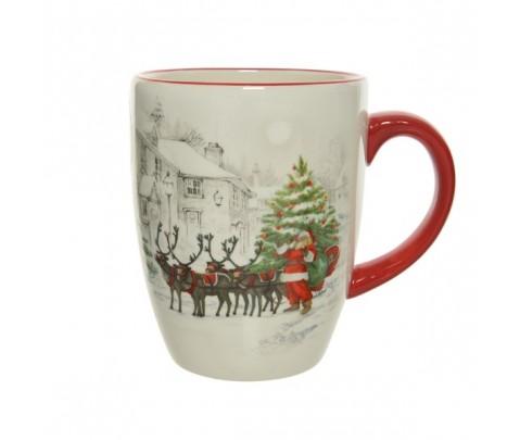 Mug trineo de Papa Noel 10 cm