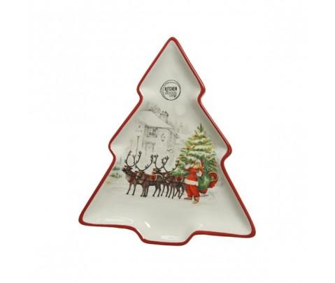 Fuente árbol trineo de Papa Noel 23 cm
