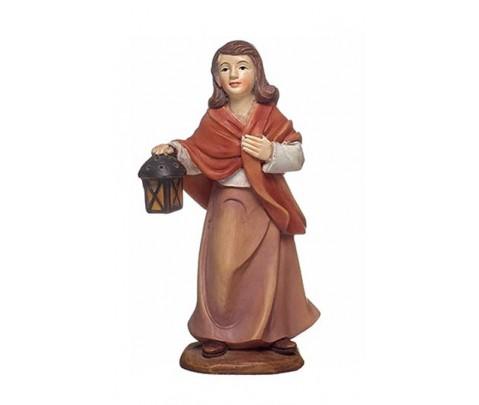 Figura belén mujer con farol 11cm